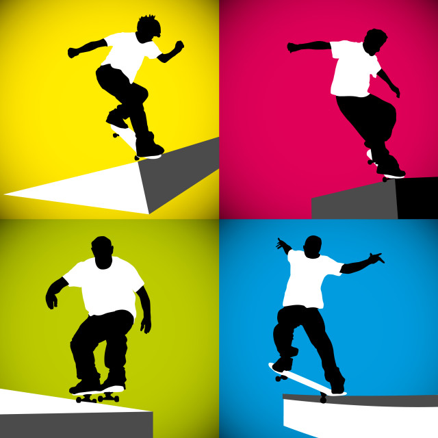 """""""Skater Curb"""" stock image"""