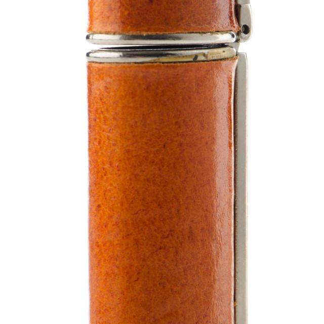 """Orange lighter"" stock image"