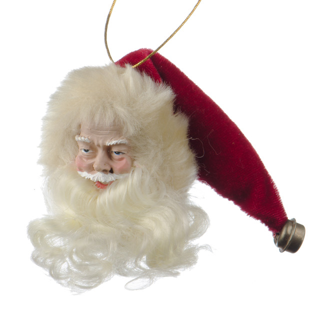 """Santa Claus doll head"" stock image"