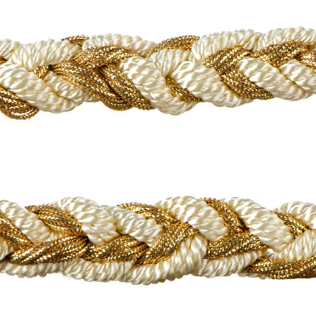 """Golden rope curtain tassels"" stock image"