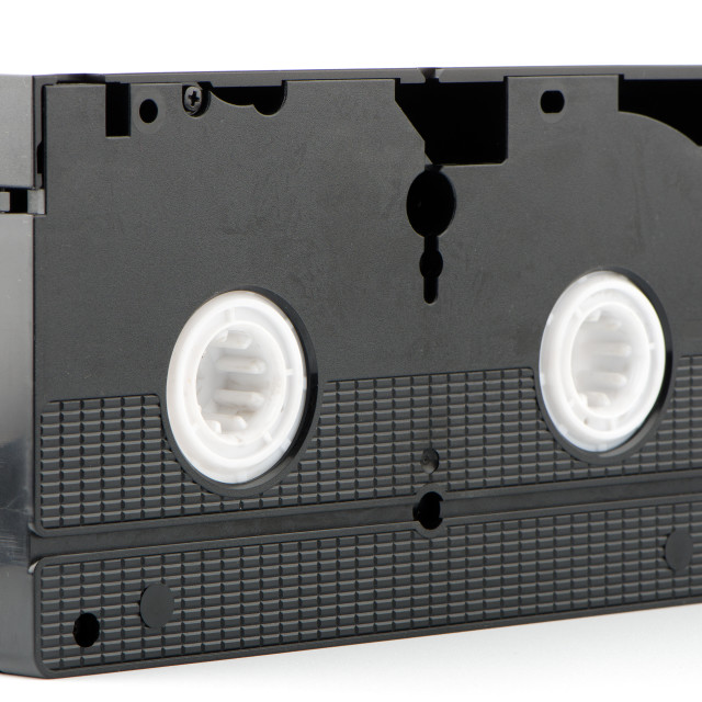 """Old VHS Video tape"" stock image"