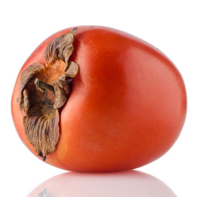 """Red ripe persimmon"" stock image"
