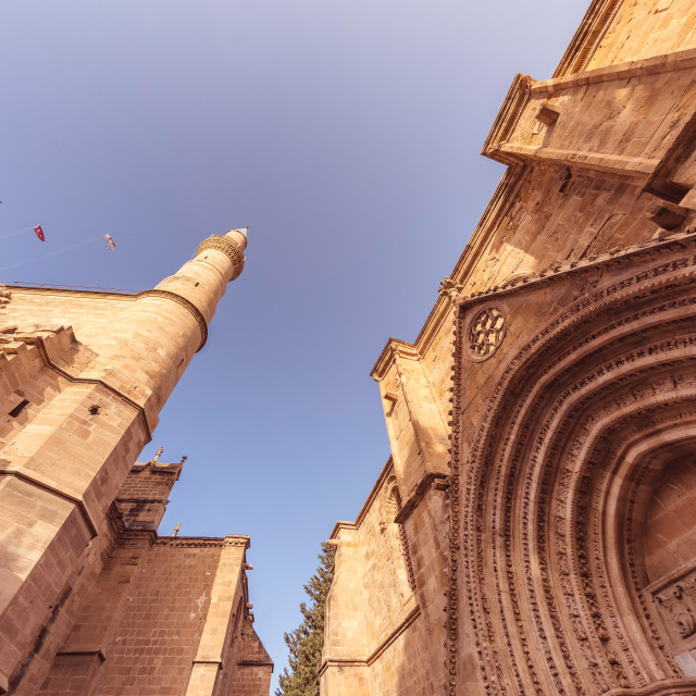 """Selimiye Mosque and Bedesten. Nicosia, Cyprus"" stock image"