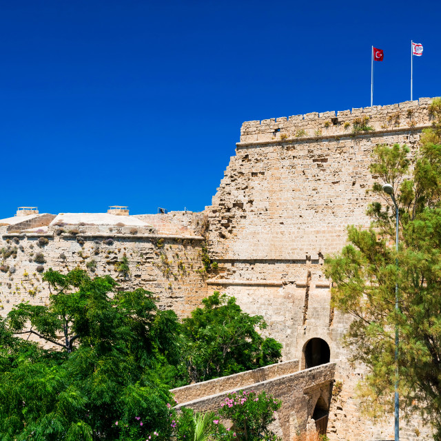 """Gate and bridge of Kyrenia Castle. Cyprus"" stock image"