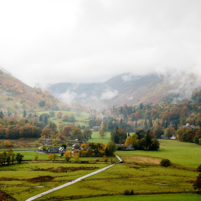 """Patterdale from Place Fell"" stock image"