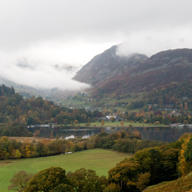 """Glenridding and Ullswater"" stock image"