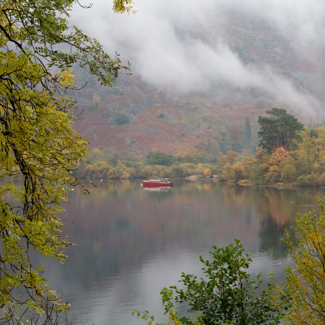"""Cloud over Ullswater"" stock image"