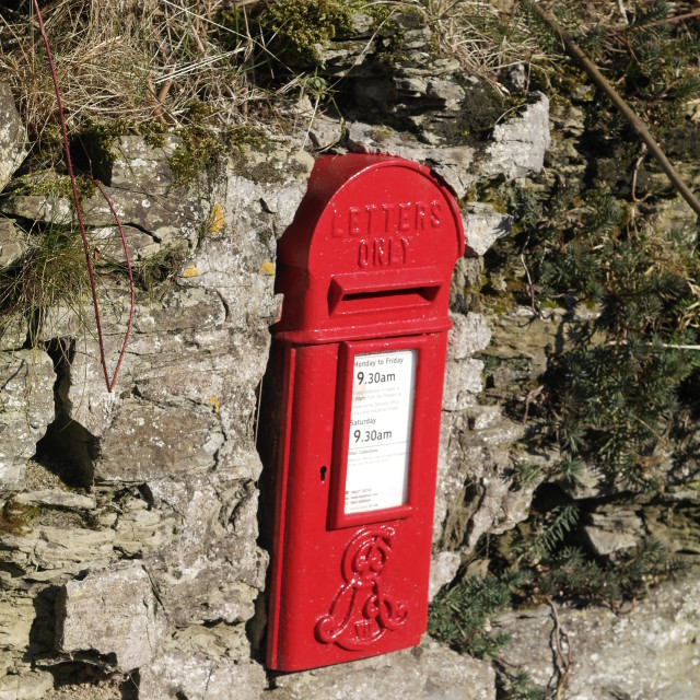 """""""Postbox in the Sun!"""" stock image"""