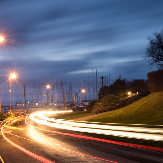 """'Light Trails'"" stock image"