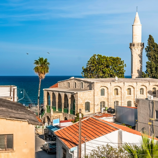 """Old town of Larnaca. Cyprus"" stock image"