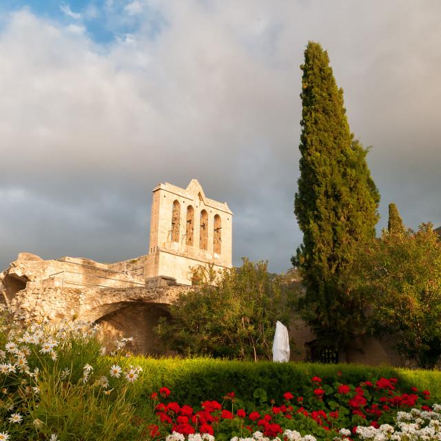 """Bellapais, Medieval Abbey, Kyrenia, Cyprus"" stock image"