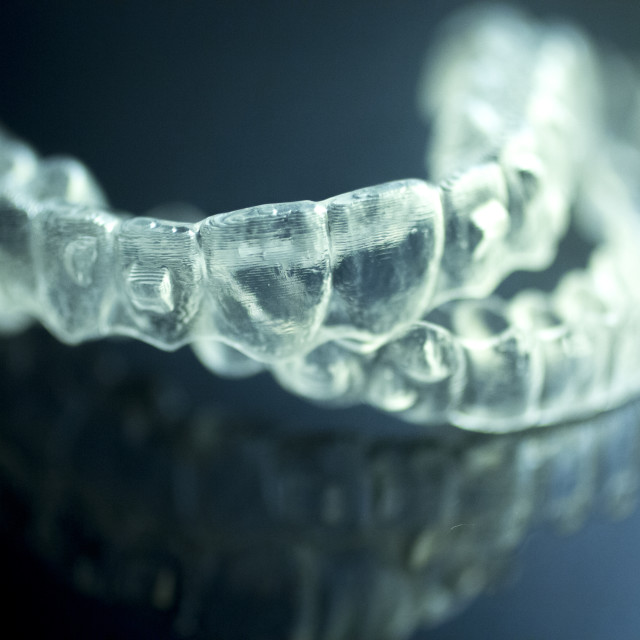 """""""Dental aligners tooth brackets invisible braces"""" stock image"""