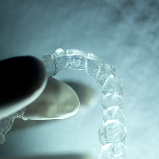 """Dental aligners tooth brackets invisible braces"" stock image"