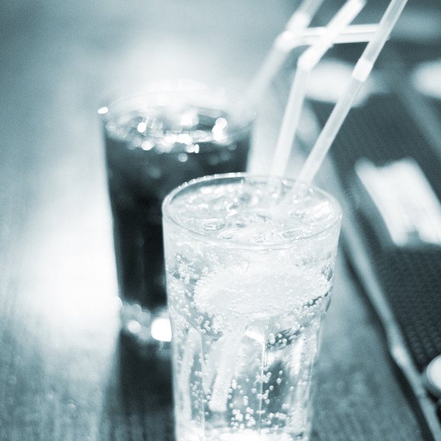 """""""Glasses in bar in wedding party"""" stock image"""