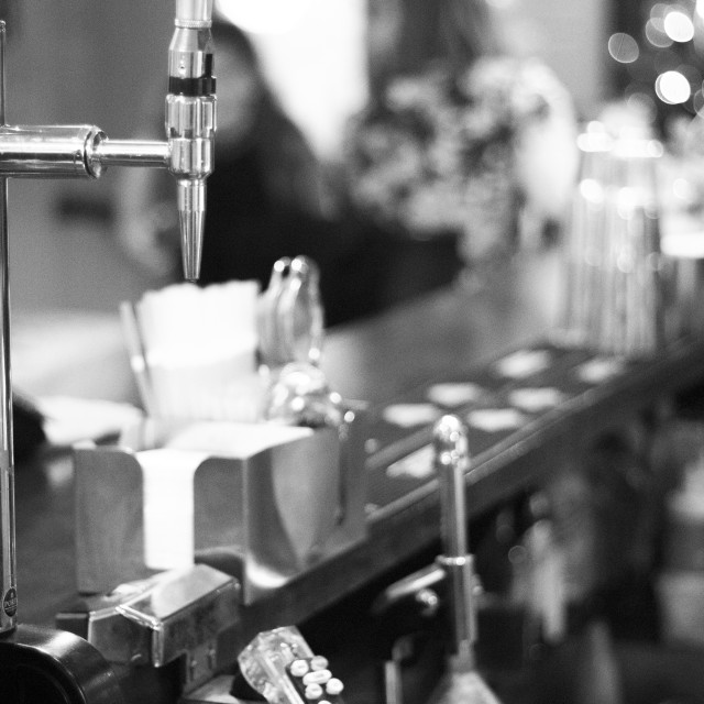 """Lager draft beer pump in pub bar"" stock image"