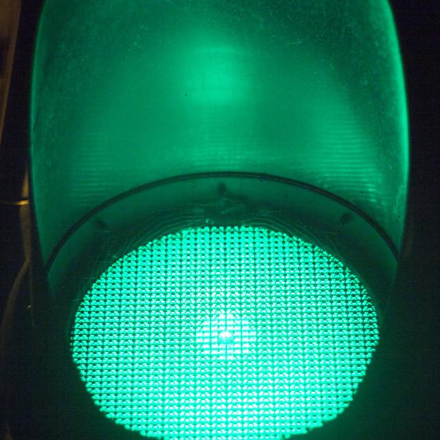 """Green go road traffic light"" stock image"