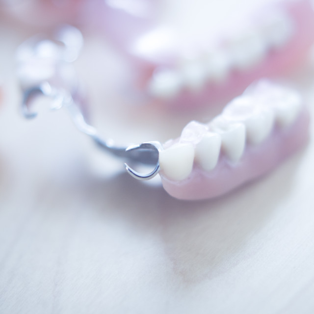 """""""Removable partial dentures"""" stock image"""