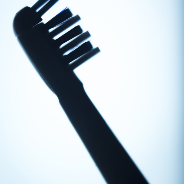 """""""Electric dental toothbrush head"""" stock image"""