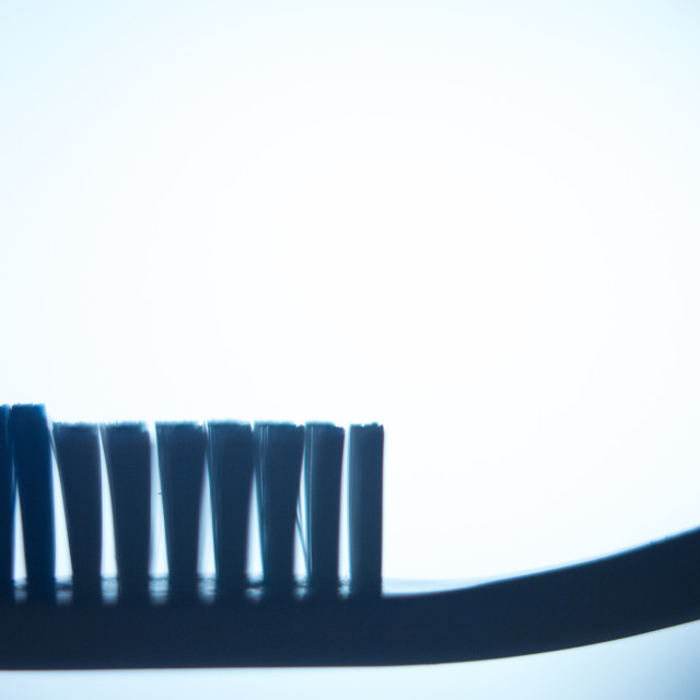 """""""Toothbrush for dental hygiene plaque control"""" stock image"""