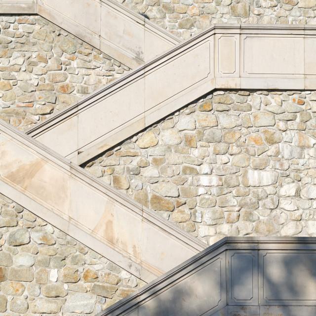 """Stone Stairs in Bratislava Castle"" stock image"