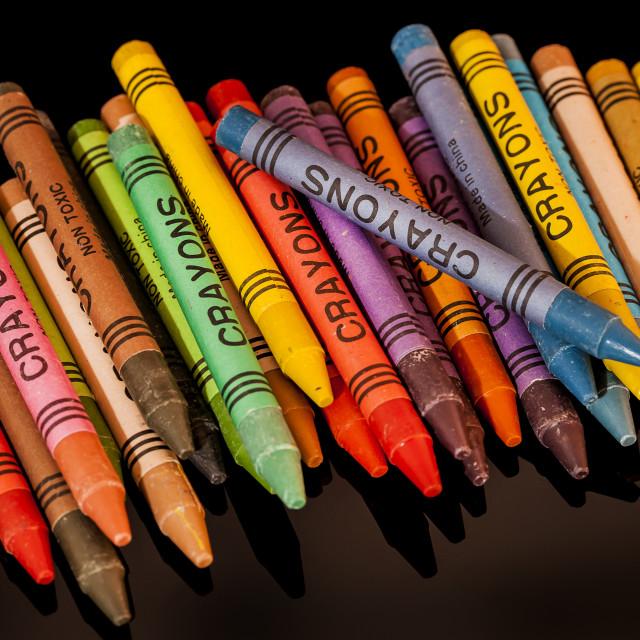 """Wax Crayons"" stock image"
