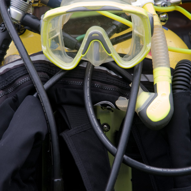 """Diving Equipment"" stock image"