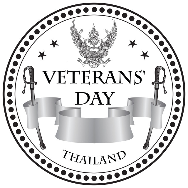 """Stamp print Veterans Day Thailand"" stock image"