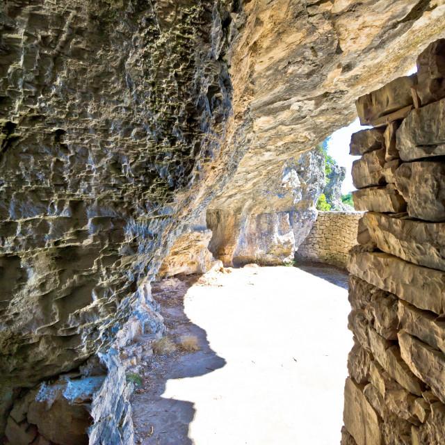"""Secret Tito's World War II hideout cave"" stock image"