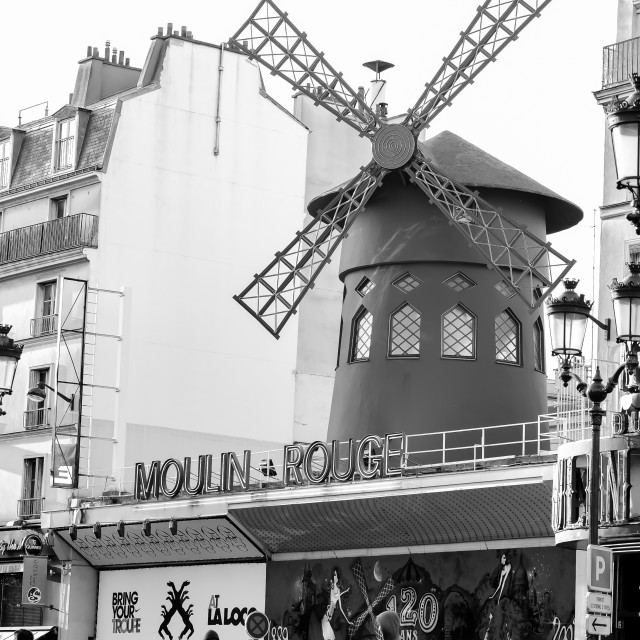 """""""The Moulin Rouge"""" stock image"""