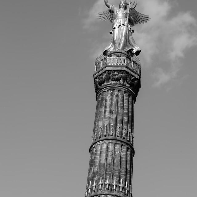 """""""Golden statue in Berlin"""" stock image"""