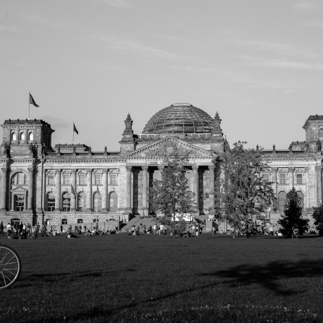 """""""The Reichstag building in Berlin"""" stock image"""