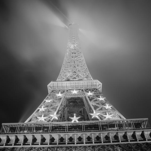 """Eiffel tower at night"" stock image"