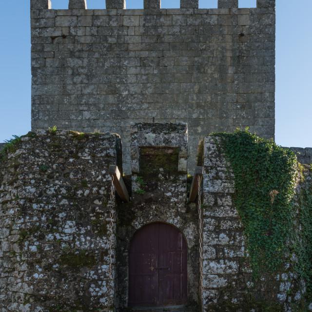 """""""Lindoso castle entrance"""" stock image"""