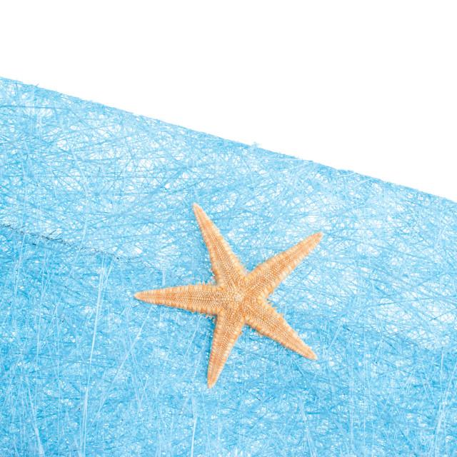 """Sea star blue envelope"" stock image"
