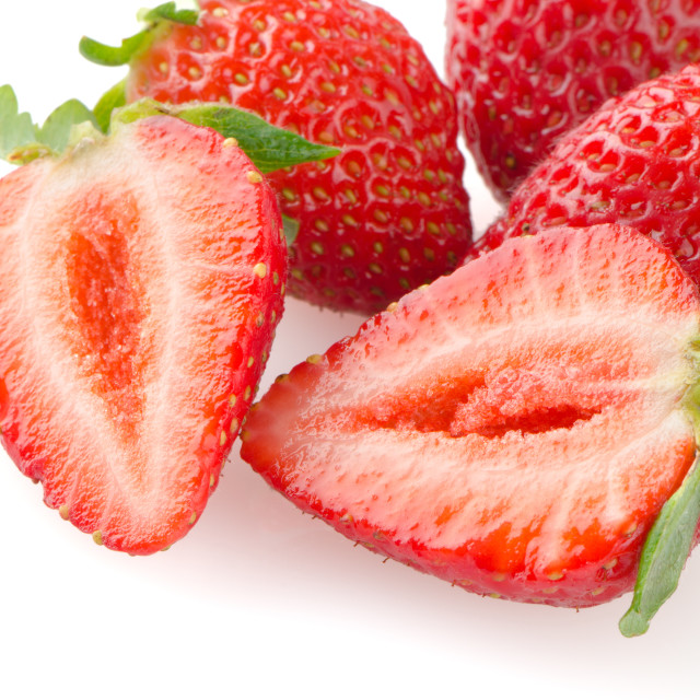 """Appetizing strawberries"" stock image"