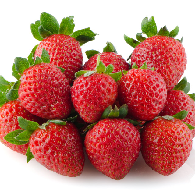 """Appetizing strawberries"" stock image"