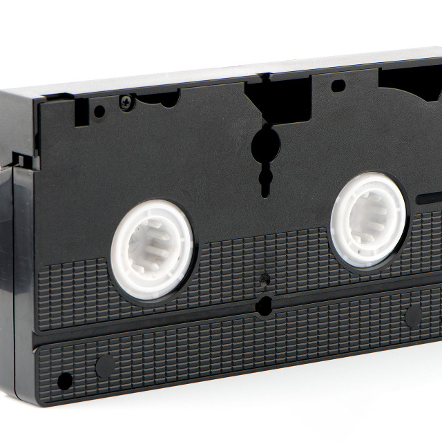 """""""Old VHS Video tape"""" stock image"""