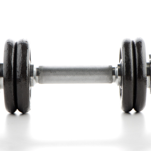 """""""Dumbbell weight"""" stock image"""