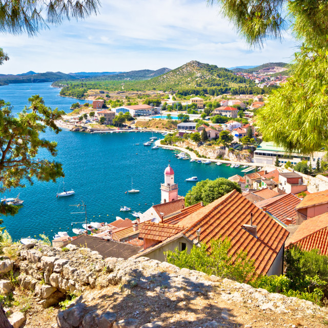 """City of Sibenik coast view"" stock image"