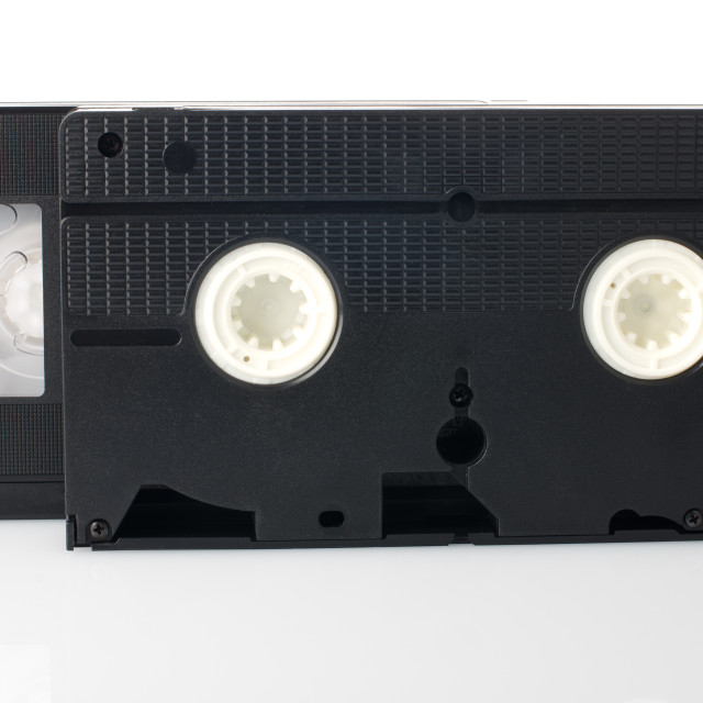 """Old VHS Video tapes"" stock image"