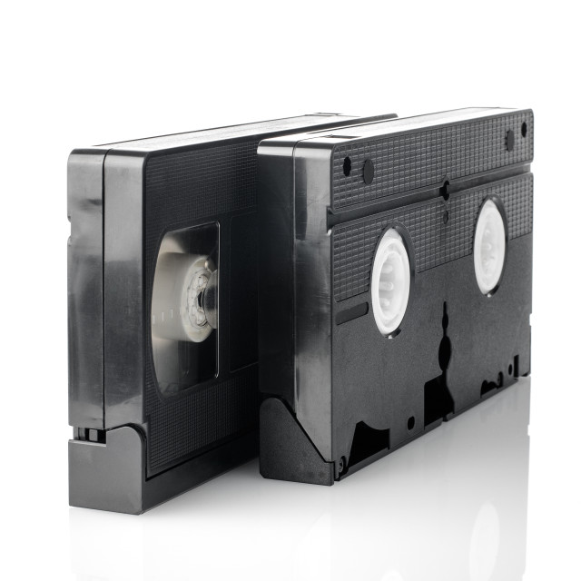 """""""Old VHS Video tapes"""" stock image"""