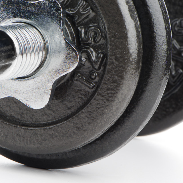 """""""Dumbbell weight closeup"""" stock image"""