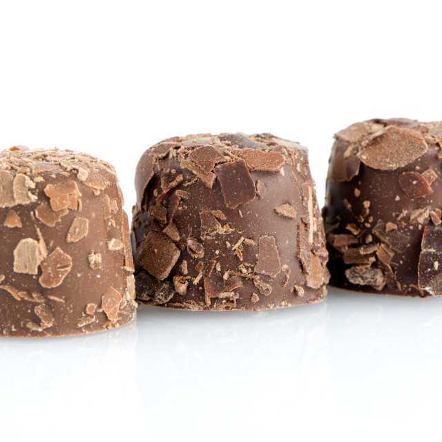"""""""Brown chocolate candies"""" stock image"""