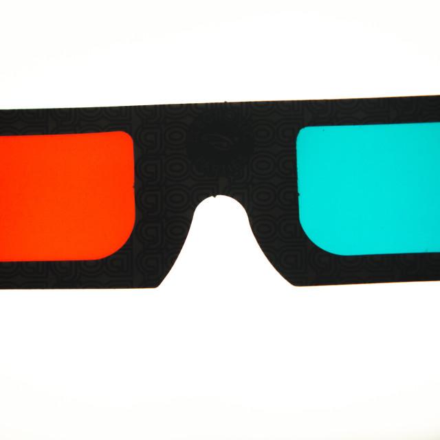 """3d three dimensional glasses"" stock image"