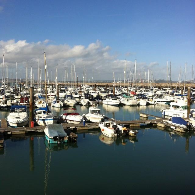 """""""Brixham marina"""" stock image"""