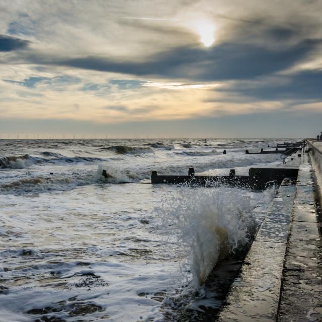 """Waves at Frinton Beach"" stock image"