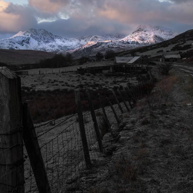 """Snowdonia."" stock image"