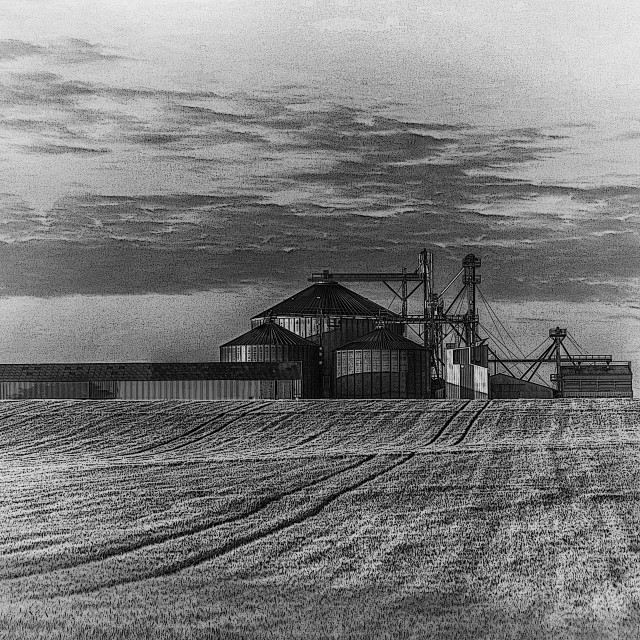 """A grain storage works"" stock image"