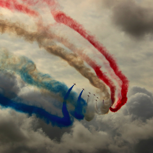 """""""RAF Red Arrows"""" stock image"""