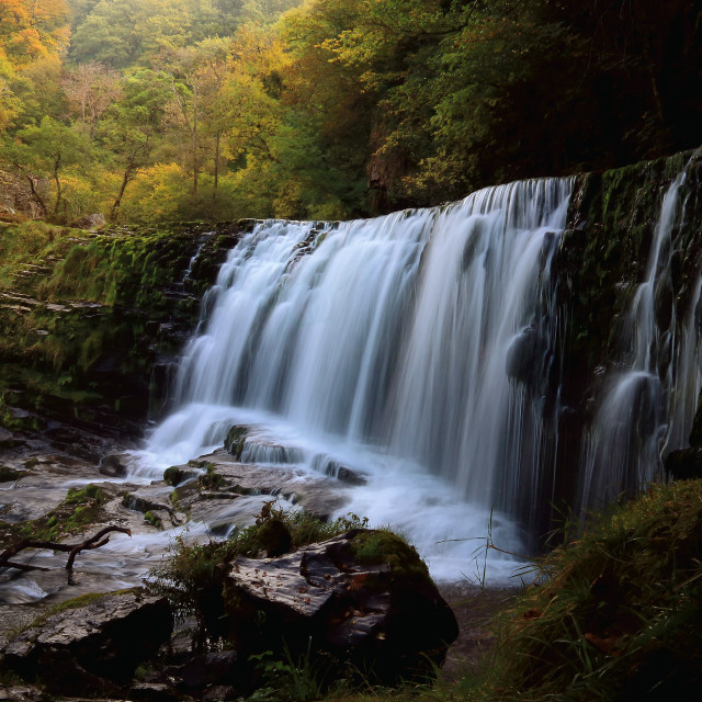 """Big Waterfall, Brecon Beacons."" stock image"